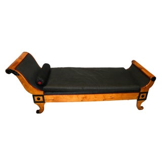 Biedermeier 19th Century Recamier Chaise Lounge Daybed For Sale