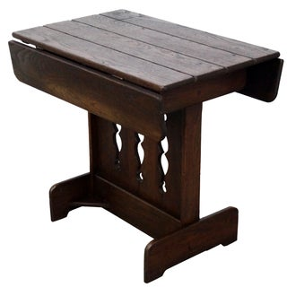 Old Hickory Rustic Drop Leaf Side Table For Sale
