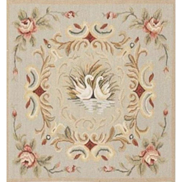 Chinese Floral Aubusson Rug - 5'x 8' - Image 8 of 9