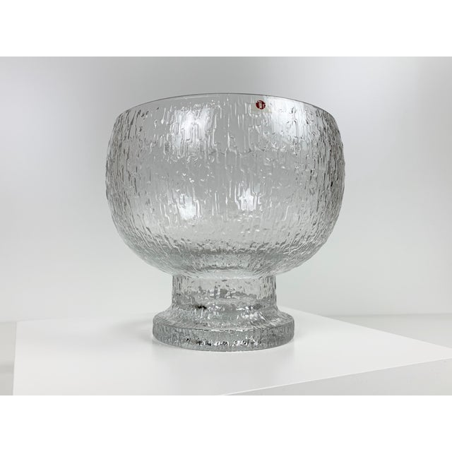 Glass Mid 20th Century Timo Sarpaneva Kekkerit Footed Glass Bowl for Iittala Finland For Sale - Image 7 of 12