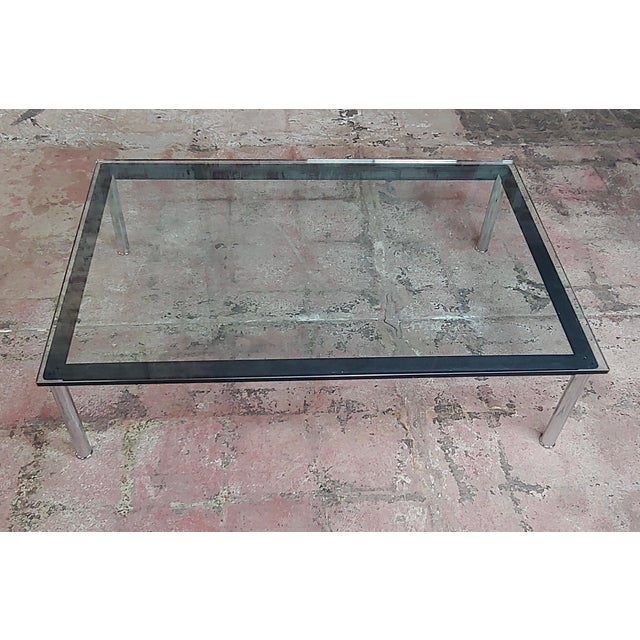 1970s Le Corbusier for Cassina Vintage Rectangular Glass Top Coffee Table For Sale - Image 5 of 10