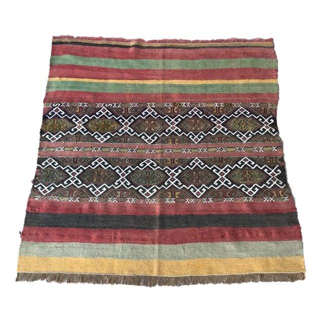 1930s Turkish Anatolian Kilim Rug For Sale - Image 9 of 9