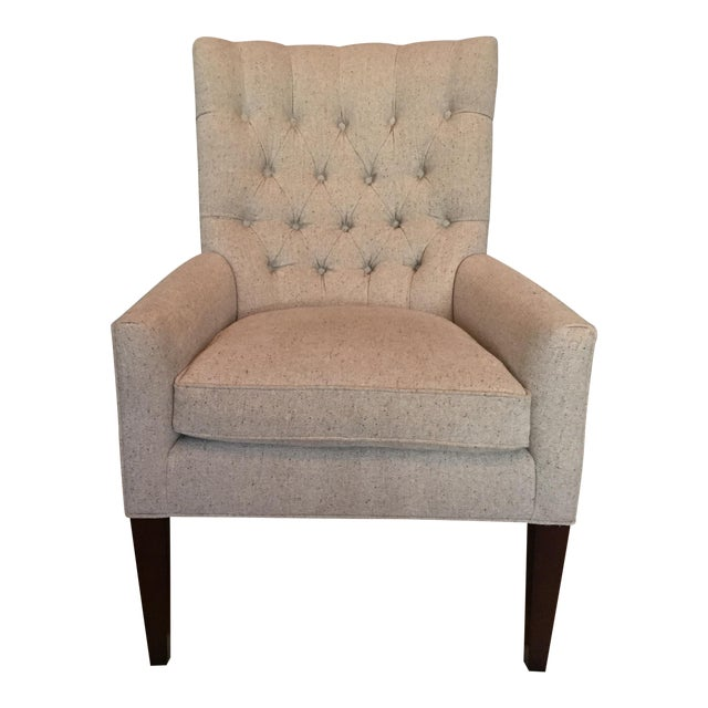Custom Tufted Wingback Chair - a Pair - Image 1 of 11