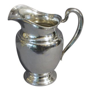 1940s Sterling Silver Water Pitcher by International - a Pair For Sale