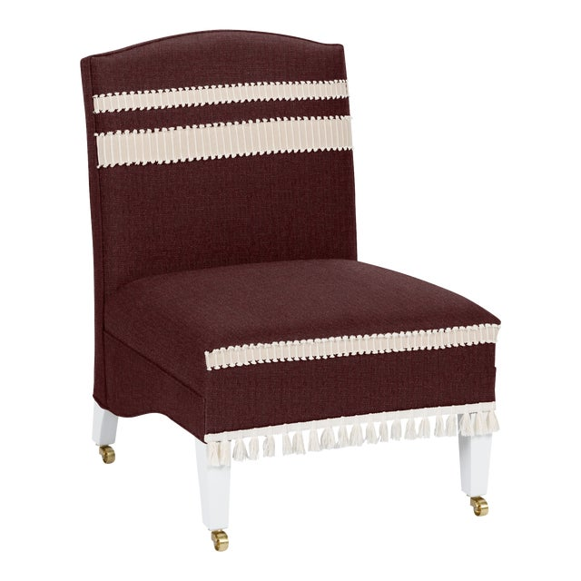 Not Yet Made - Made To Order Casa Cosima Sintra Chair, Merlot For Sale - Image 5 of 5