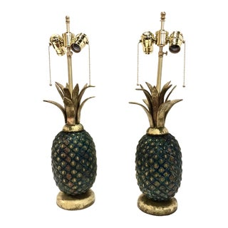 Pair of Pepe Mendoza Mid-Century Pineapple Lamps For Sale