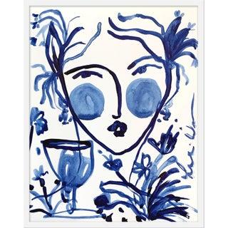 "Medium ""Flowers and Wine Indigo II"" Print by Leslie Weaver, 25"" X 32"" Preview"
