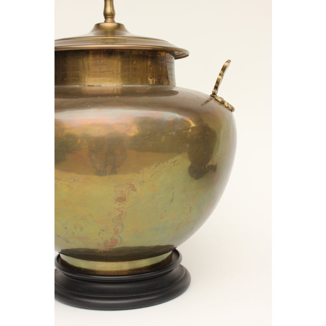 Chapman Brass Asian Table Lamps - A Pair - Image 6 of 7