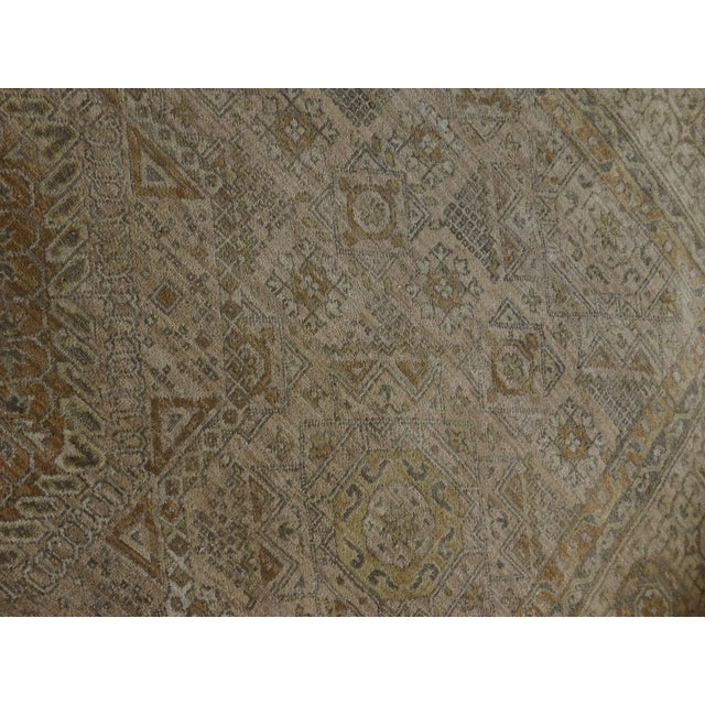 "Cotton Mamluk Hand-Knotted Luxury Rug - 7'10"" x 7'11"" For Sale - Image 7 of 10"