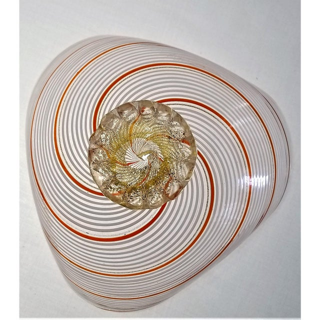 1950s Vintage Murano Glass Bowl by Dino Martens - 1954 For Sale - Image 5 of 11
