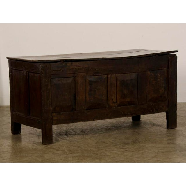 Antique English Jacobean Style Oak Trunk circa 1820 For Sale - Image 9 of 9