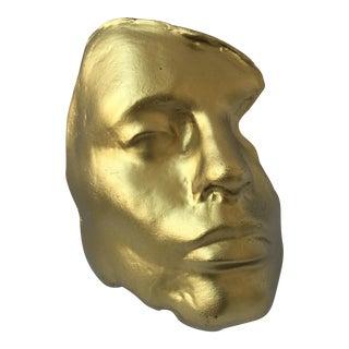 Ara Soner Gold Cast Fiberglass Face Display
