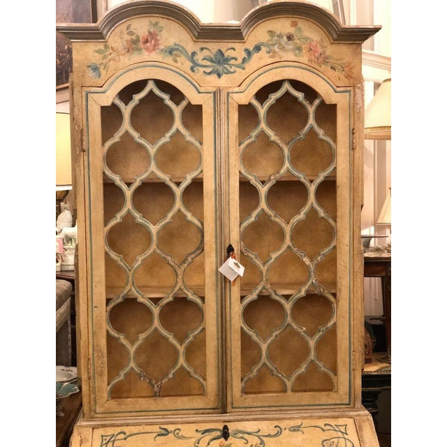 """Antique Italian Paint Decorated Secretary Desk IN EXCELLENT CONDITION!!! It measures approximately 81"""" tall, 33"""" wide and..."""