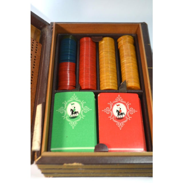 Vintage Game Set in Book Shaped Box For Sale - Image 11 of 12