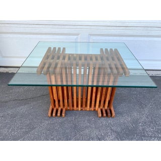 Mid Century Modern Slat Side Table Preview