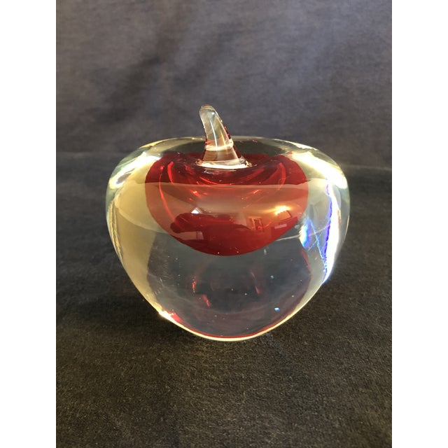 Archimede Seguso Somerso Style Art Glass Paper Weight For Sale - Image 4 of 7