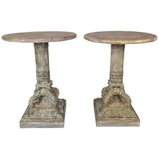 Pair of Neoclassical Style Italian Painted Tables $3,800 For Sale