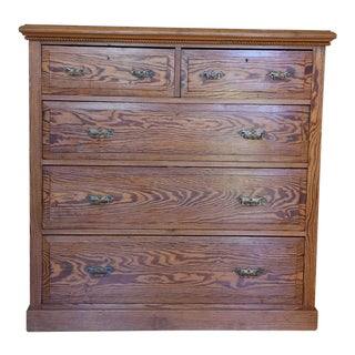English Antique Heart Pine Dresser For Sale