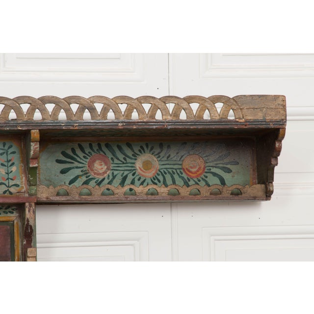 Austrian Early 19th Century Hand-Painted Pine Wall Mounted Coat Rack For Sale In Baton Rouge - Image 6 of 13