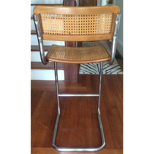 Mid-Century Modern Marcel Breuer Style Cesca Bar Stool - A Pair For Sale - Image 3 of 7