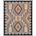 Pasargad Home Navajo-Style Wool Area Rug- 9′8″ × 13′9″