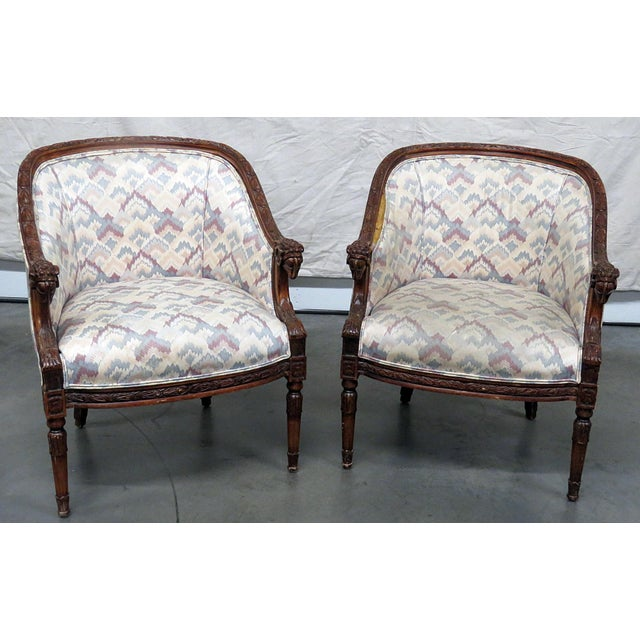 Regency Style Club Chairs - a Pair For Sale - Image 13 of 13