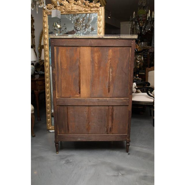 Brass 19th Century, Louis XVI Style Mahogany Bookcase For Sale - Image 7 of 10