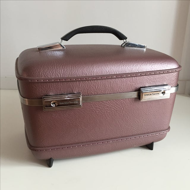 Pearlescent Purple American Tourister Train Case - Image 2 of 6