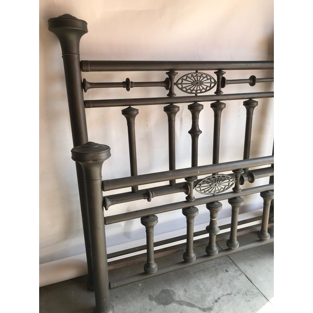 Antique Full Size Brass Bed For Sale - Image 10 of 11