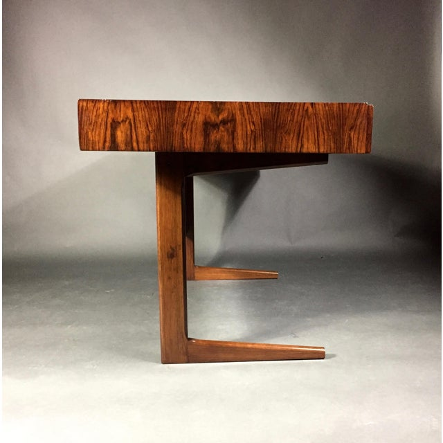 """Mid-Century Modern 1970 """"Cassette"""" Desk in Rosewood, Style of Georg Petersens For Sale - Image 3 of 12"""