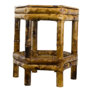 Tortoise Bamboo Plant Stand Table