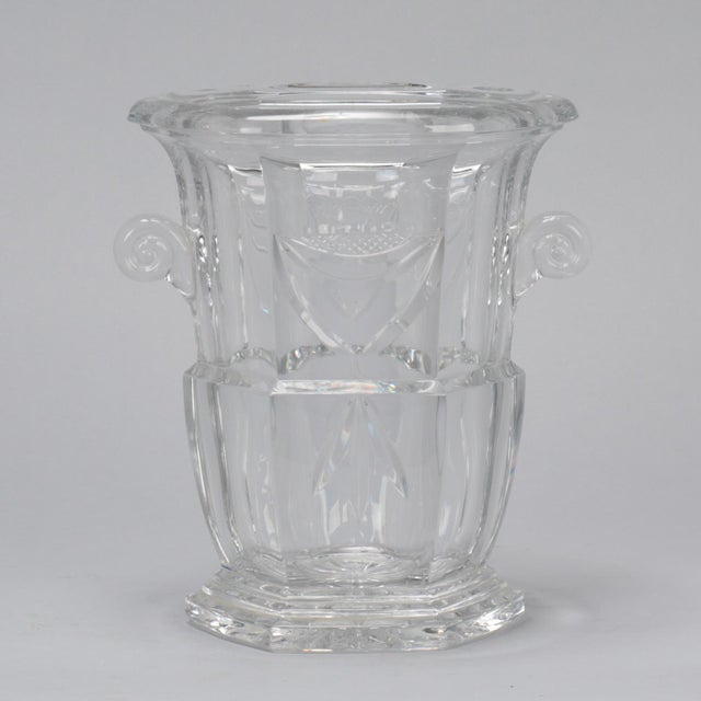 Silver Large Early 20th Century French Crystal Ice Bucket For Sale - Image 8 of 8