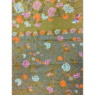 Vintage Hand Printed Cotton Batik Fabric For Sale