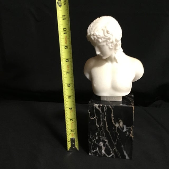 White Eros Greek God of Love Marble Statue For Sale - Image 8 of 9