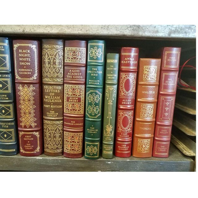 1980s Collection of Franklin/Eaton Vintage Leather Books - Set of 40 For Sale - Image 5 of 8