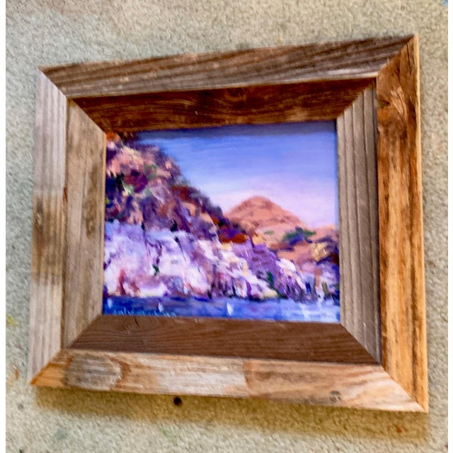 """2020s """"Lake Mead Nevada"""" Contemporary Landscape Oil Painting, Framed For Sale - Image 5 of 7"""