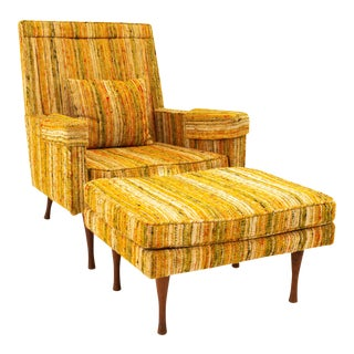 Paul McCobb for Widdicomb Symmetric Group Mid Century Lounge Chair With Ottoman For Sale