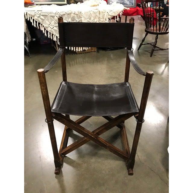 Animal Skin 1930s Vintage Mogens Koch Danish Modern Collapsible Safari Chair For Sale - Image 7 of 7