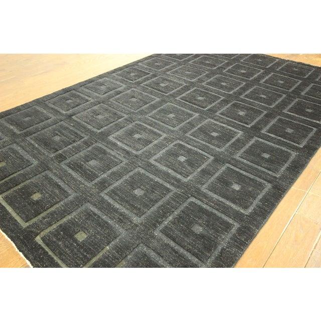 "Square Black Gabbeh Kashkuli Rug - 6'8"" x 10' - Image 4 of 10"