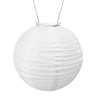 Soji Outdoor Solar Powered Lantern in White For Sale