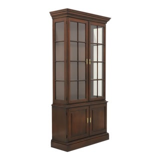 Statton Old Towne Cherry Chippendale Curio China Cabinet For Sale