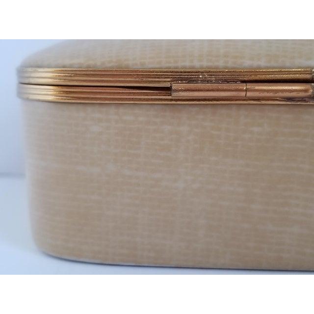 Metal Vintage Chamart Limoges Trinket Box For Sale - Image 7 of 12