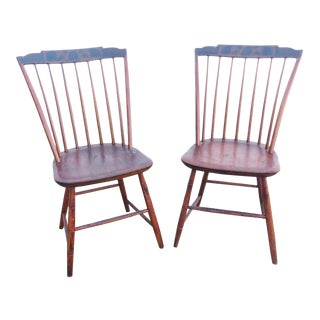19th Century Antique Bamboo Windsor Chairs-A Pair For Sale