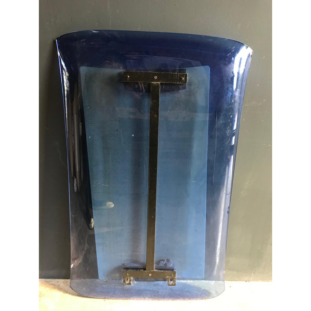 Blue Fontana Arte Blue Mirror, Italy C. 1950s For Sale - Image 8 of 9