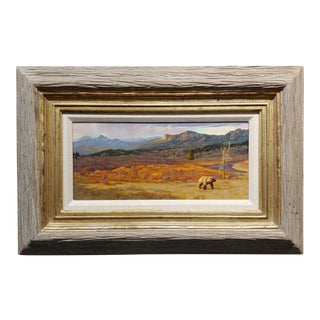 """Greg Beecham """"Grizzly Bear Crossing a Big Country Landscape"""" Oil Painting For Sale"""