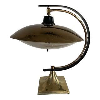 Mid-Century Modern Flying Saucer Desk Lamp For Sale