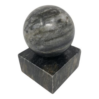 Art Deco Solid Black Marble Bookend End For Sale