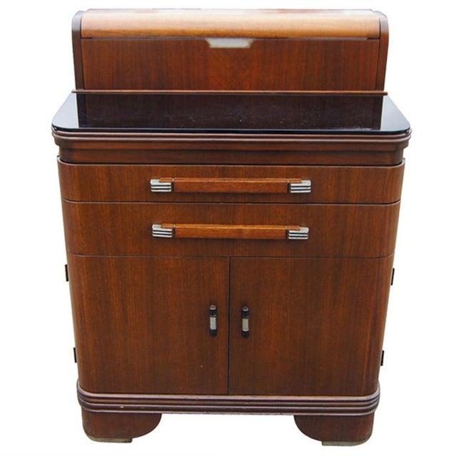 Art Deco Hamilton Donald Deskey Walnut Dental Cabinet For Sale - Image 9 of 9