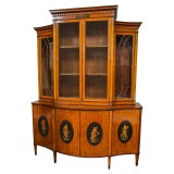 Image of Edwardian Adams-Style Bookcase For Sale