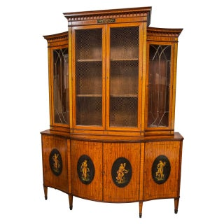 Edwardian Adams-Style Bookcase For Sale